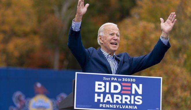 Ο υποψήφιος των Δημοκρατικών στις προεδρικές εκλογές των ΗΠΑ Τζο Μπάιντεν