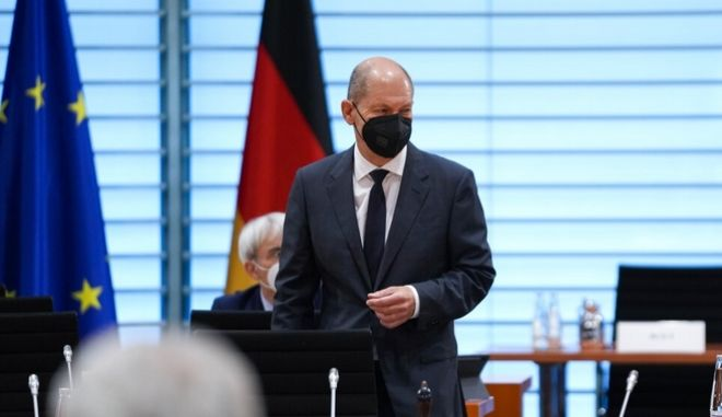Ο υπουργός Οικονομικών και υποψήφιος καγκελάριος των Σοσιαλδημοκρατών, Όλαφ Σολτς