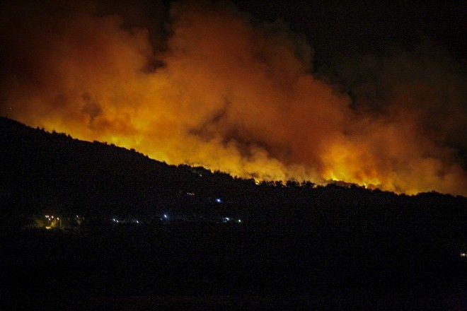 Πυρκαγιά σε δασική έκταση στην περιοχή Κέδρος της Σάμου