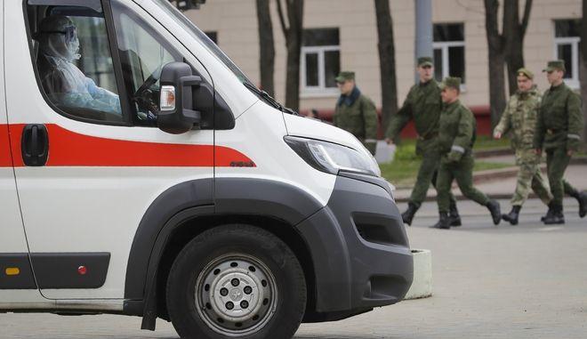 Ασθενοφόρο στη Λευκορωσία. Φωτό αρχείου.