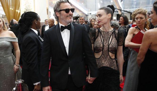 Ο Joaquin Phoenix και η Rooney Mara στα Όσκαρ 2020
