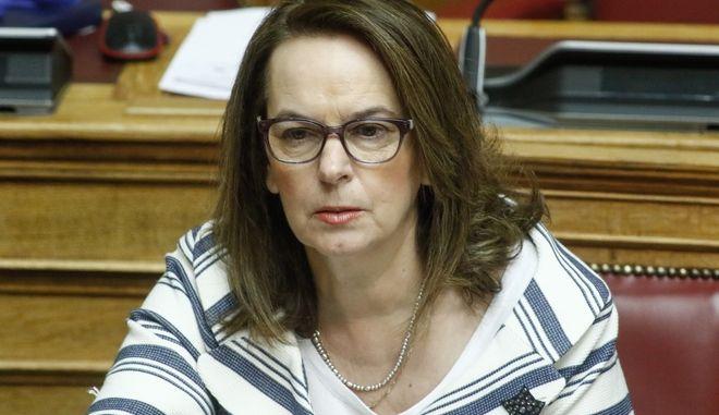 Η υφυπουργός Οικονομικών Κατερίνα Παπανάτσιου