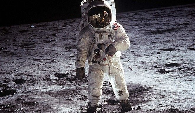 """NASA file image shows Buzz Aldrin on the moon next to the Lunar Module Eagle...This NASA file image shows Apollo 11 U.S. astronaut Buzz Aldrin standing on the Moon, next to the Lunar Module """"Eagle"""" (R), July 20, 1969. Apollo 11 was launched forty years ago today on July 16, 1969, and carried astronauts Neil Armstrong, who was the Mission Commander and the first man to step on the Moon, Aldrin, who was the Lunar Module Pilot, and Michael Collins, who was the Command Module pilot. Armstrong took this photograph.    REUTERS/Neil Armstrong-NASA/Handout    (UNITED STATES ANNIVERSARY SCI TECH IMAGES OF THE DAY) FOR EDITORIAL USE ONLY. NOT FOR SALE FOR MARKETING OR ADVERTISING CAMPAIGNS"""