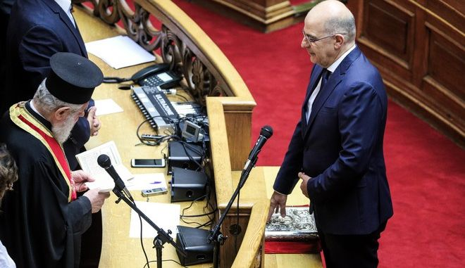 Ορκίστηκε ο ΥΠΕΞ και βουλευτής ΝΔ, Νίκος Δένδιας