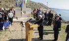 Χαιρετισμός και κατάθεση στεφάνου από τον Πρόεδρο της Δημοκρατίας σε εκδήλωση μνήμης που πραγματοποιήθηκε στο χώρο του μνημείου που έχει ανεγερθεί προς τιμήν των θυμάτων του πλοίου ORIA