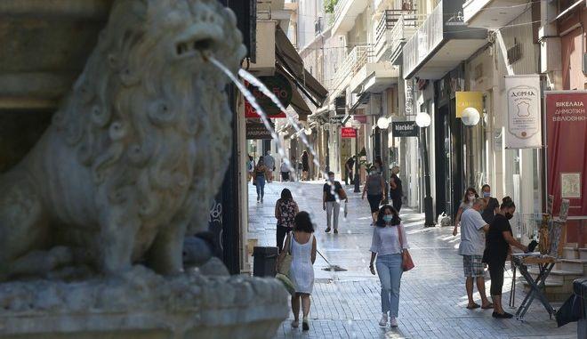 Εικόνα από το Ηράκλειο Κρήτης τον Σεπτέμβριο του 2020