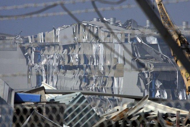 Ο κατεστραμμένος σταθμός παραγωγής ενέργειας στο Μαρί που υπέστη ζημιές μετά τη φονική έκρηξη