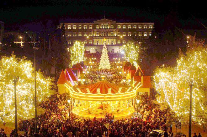 Η έναρξη των Χριστουγεννιάτικων εκδηλώσεων του Δήμου Αθήναιων το 2003