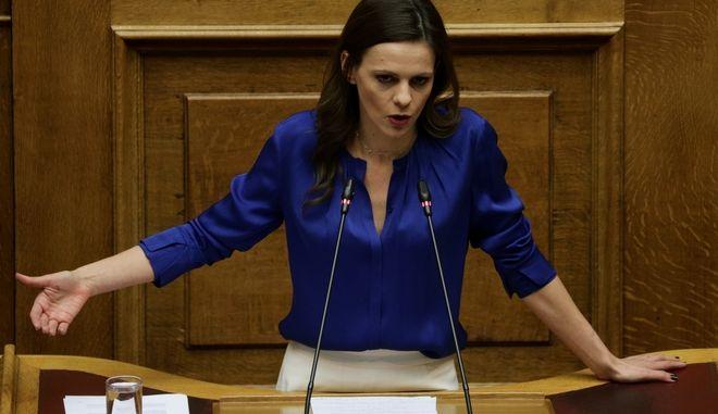 Η βουλευτής του ΣΥΡΙΖΑ, Έφη Αχτσιόγλου