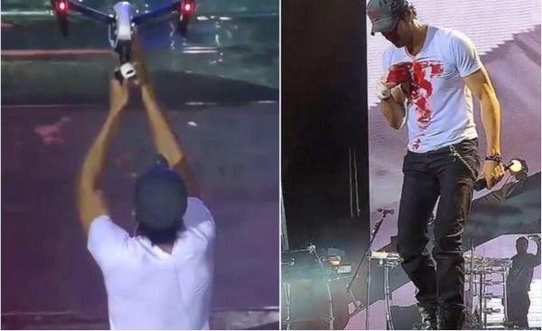 Ο Enrique Iglesias μάτωσε πάνω στη σκηνή