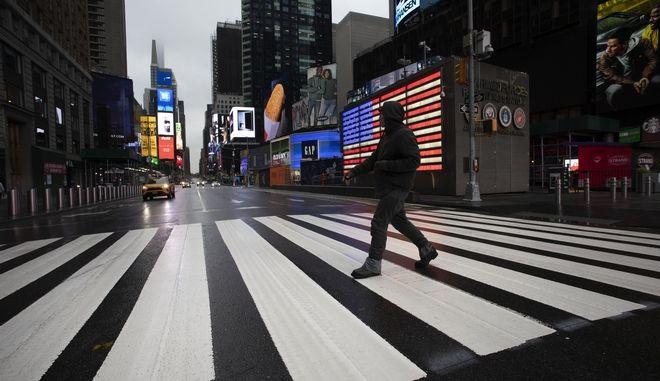 Αδειοι δρόμοι στη Νέα Υόρκη