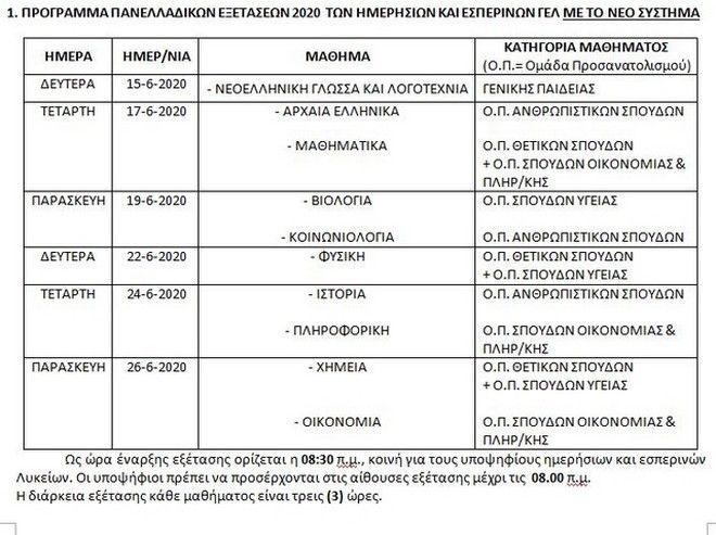 Πανελλήνιες 2020: Αυτό είναι το πρόγραμμα των εξετάσεων - Αναλυτικά οι ημερομηνίες