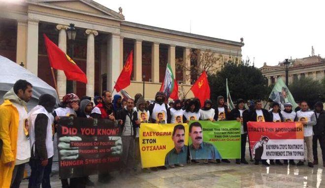 Ολοκληρώθηκε η πορεία των Κούρδων της Αθήνας για την απελευθέρωση Οτσαλάν