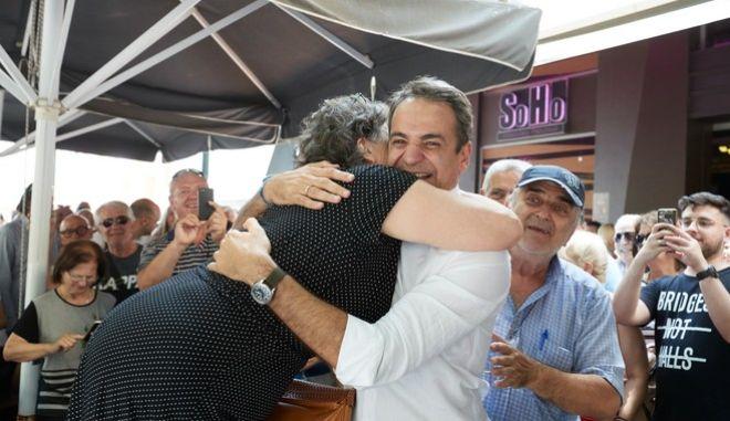 Περιοδεία του προέδρου της Νέας Δημοκρατίας Κυριάκου Μητσοτάκη στη Θράκη