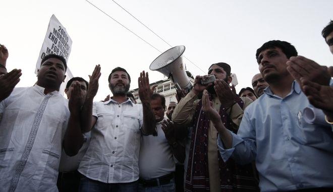 Καρέ από συγκέντρωση της Πακιστανικής Κοινότητας Ελλάδας (ΦΩΤΟ Αρχείου)