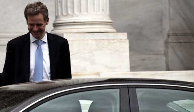 Poul Thomsen  of International Monetary Fund exiting Maximos Mansion after troika's meeting with the Greek Prime Ministe. Athens, April 07, 2013 /         ,