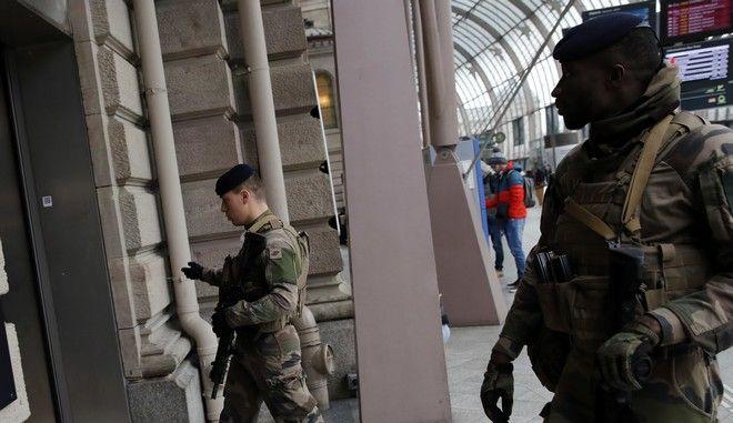 Γάλλοι στρατιώτες - φωτό αρχείου