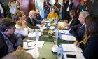 Διυπουργική σύσκεωψη στο Υπουργείο προστασίας του πολίτη μεταξύ του Επιτρόπου της ΕΕ για την μεταναστευτική πολιτική Δημήτρη Αβραμόπουλου και των συναρμόδιων υπουργών, Τετάρτη 19 Σεπτεμβρίου 2018 (EUROKINISI/ΓΙΑΝΝΗΣ ΠΑΝΑΓΟΠΟΥΛΟΣ)