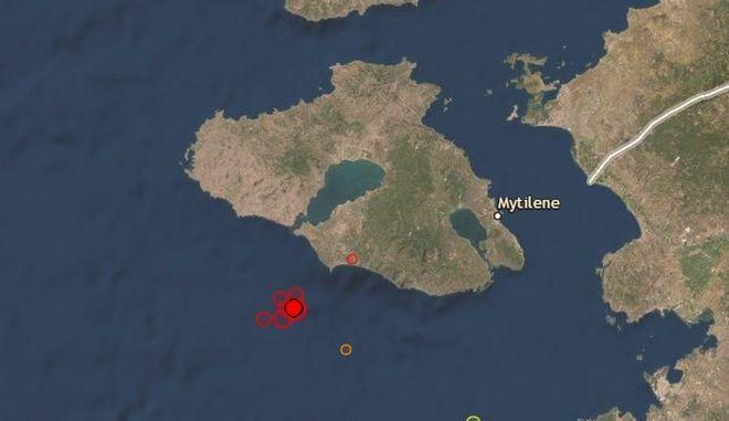 Διαδοχικοί σεισμοί ανοιχτά της Μυτιλήνης