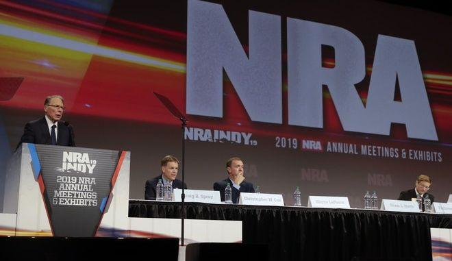 Εικόνα από το συνέδριο του NRA στην Ιντιανάπολις τον Απρίλιο του 2019