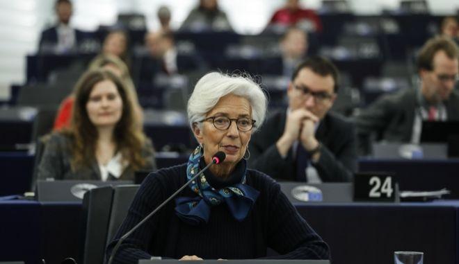Η επικεφαλής της ΕΚΤ, Κριστίν Λαγκάρντ.