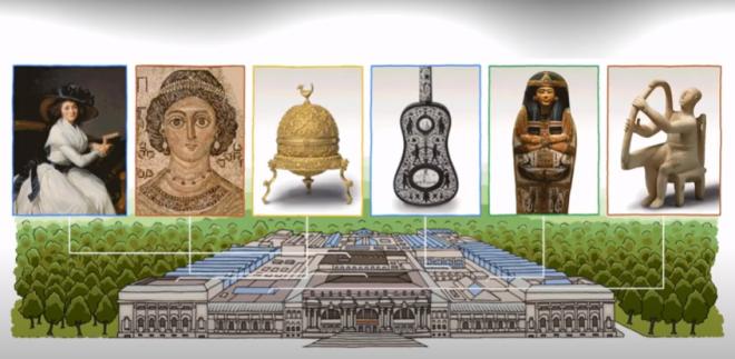 Μητροπολιτικό Μουσείο Τέχνης: Η Google τιμά με doodle τα 151 χρόνια ζωής του