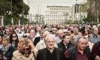 Διαμαρτυρία συνταξιούχων και εργαζομένων για τη μη καταβολή επικούρησης σε 16.000 συνταξιούχους