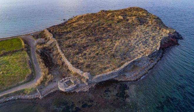 Το Οβριόκαστρο στην Αρχαία Άντισσα στη Λέσβο