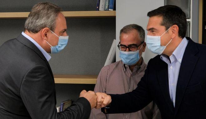 Συνάντηση του Αλέξη Τσίπρα με τον γενικό γραμματέα του ΑΚΕΛ, Στέφανο Στεφάνου
