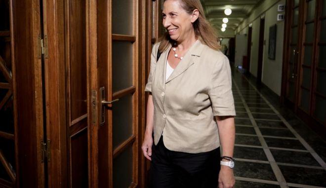 Η υπουργός Διοικητικής Ανασυγκρότησης, Μαριλίζα Ξενογιαννακοπούλου
