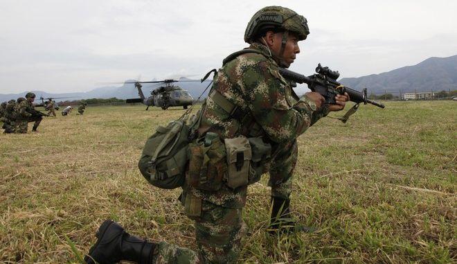 Κολομβιανός στρατιώτης (φωτογραφία αρχείου)