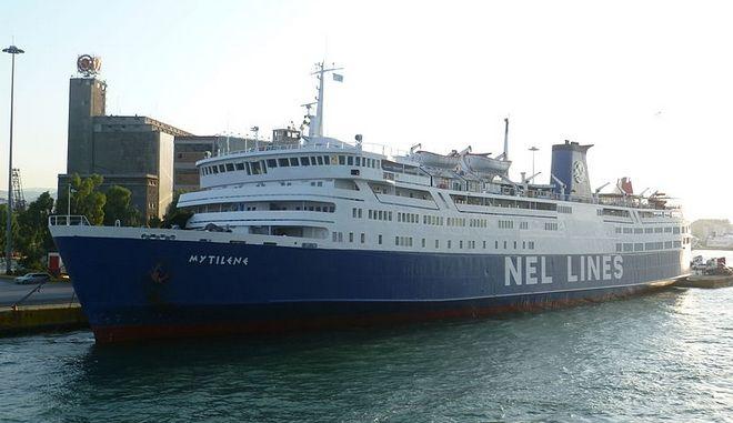 """Το επιβατηγό οχηματαγωγό πλοίο """"Μυτιλήνη"""""""