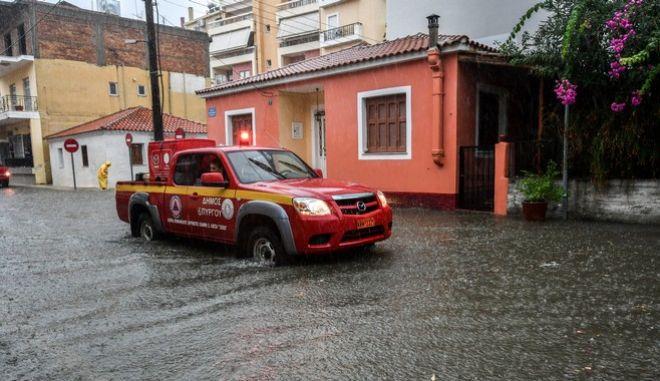 Φωτό αρχείου: Πλημμύρες στην πόλη του πύργου Ηλείας
