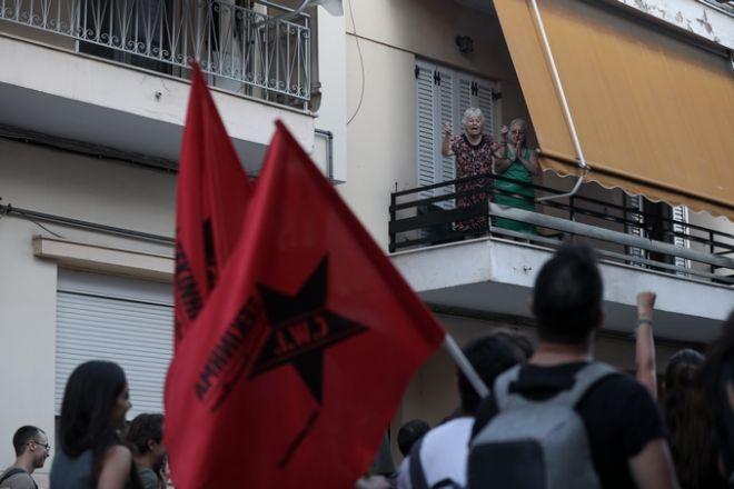 Πορεία για τα έξι χρόνια από τη δολοφονία του Παύλου Φύσσα στο Κερατσίνι. Τετάρτη 18 Σεπτεμβρίου 2019. (EUROKINISSI/ΣΤΕΛΙΟΣ ΜΙΣΙΝΑΣ)