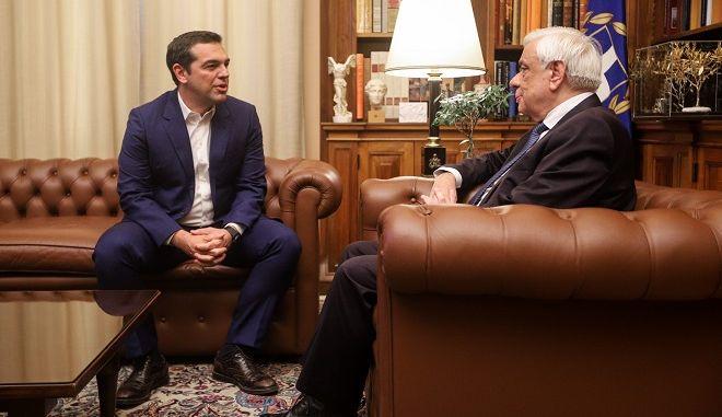 Συνάντηση του Προέδρου της Δημοκρατίας με τον πρωθυπουργό Αλέξη Τσίπρα