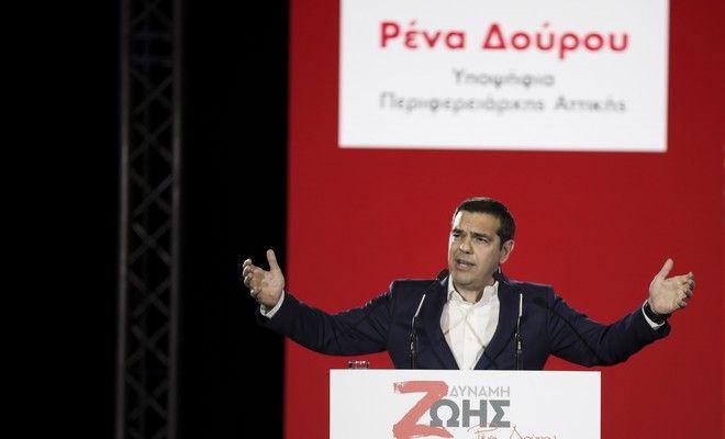 Ο πρωθυπουργός, Αλέξης Τσίπρας, στην παρουσίαση του συνδυασμού της Ρένας Δούρου