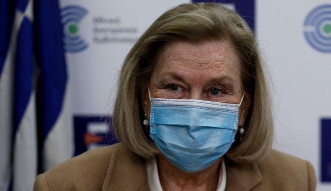 Η Πρόεδρος της Εθνικής Επιτροπής Εμβολιασμών Μαρία Θεοδωρίδου.