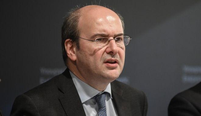 Συνέντευξη τύπου της πολιτικής ηγεσίας του υπουργείου Περιβάλλοντος και Ενέργειας για την παρουσίαση του περιβαλλοντικού σχεδίου νόμου την Πέμπτη 27 Φεβρουαρίου 2020. (EUROKINISSI/ΕΦΗ ΣΚΑΖΑ)