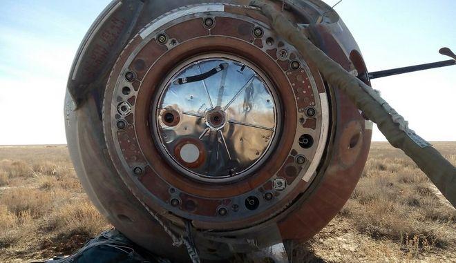 Η κάψουλα του Σογιούζ μετά την αποτυχημένη εκτόξευση, κατέπεσε σε στέπα του Καζακστάν