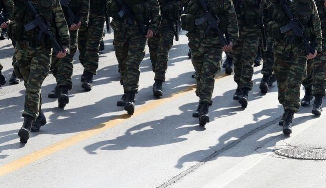 Στρατιωτική παρέλαση - Φωτό αρχείου