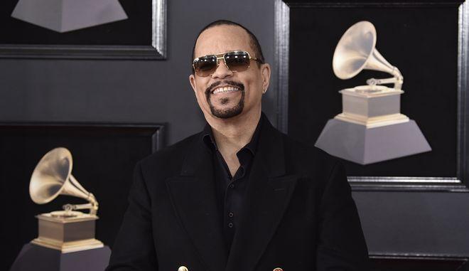 O Ice T στην 60η απονομή των βραβείων Γκράμι στη Νέα Υόρκη