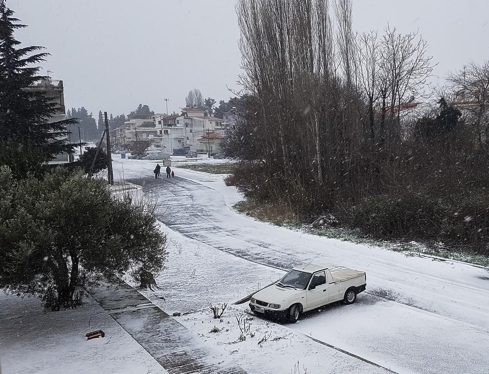 Η χιονισμένη Κομοτηνή