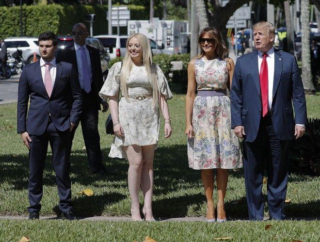 O Tραμπ, η Μελάνια και η Τίφανι