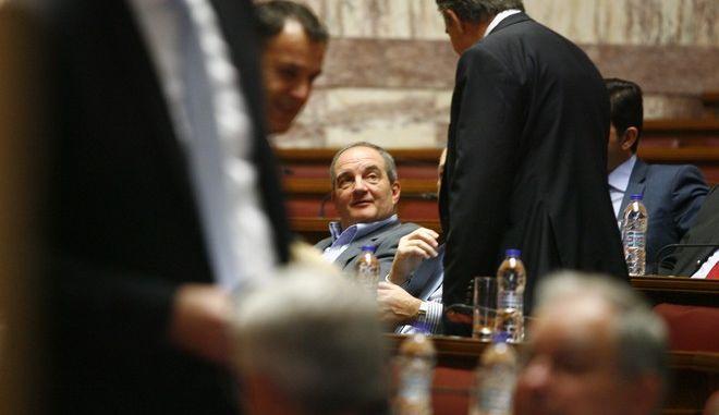 Συνεδρίαση της Κοινοβουλευτικής Ομάδας της Νέας Δημοκρατίας την Πέμπτη 5 Μαρτίου 2015. (EUROKINISSI/ΓΙΩΡΓΟΣ ΚΟΝΤΑΡΙΝΗΣ)