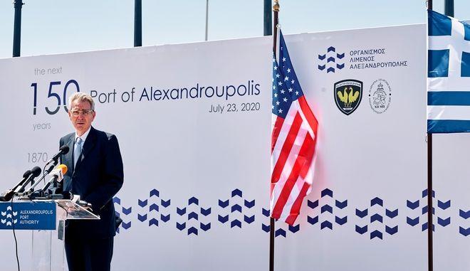 Ο πρέσβης των ΗΠΑ στην Αθήνα Τζέφρι Πάιατ
