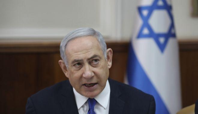 O ισραηλινός πρωθυπουργός.