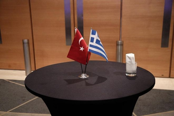 `Third Supreme Council of Greek-Turkish Cooperation` in Athens, Greece on December 6, 2014. / `3      `  ,   6  2014.
