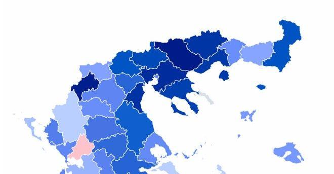 O εκλογικός χάρτης στη Μακεδονία - Ευρωεκλογές 2019