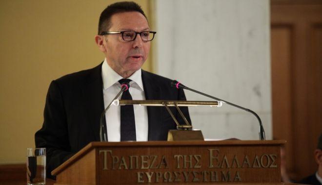 Παρουσίαση της Έκθεσης του Διοικητή της Τράπεζας της Ελλάδος Γιάννη Στουρνάρα, για το έτος 2015 στα πλαίσια της 83ης Ετήσιας Τακτικής Γενικής Συνέλευσης των Μετόχων την Πέμπτη 25 Φεβρουαρίου 2016. (EUROKINISSI/ΓΙΑΝΝΗΣ ΠΑΝΑΓΟΠΟΥΛΟΣ)