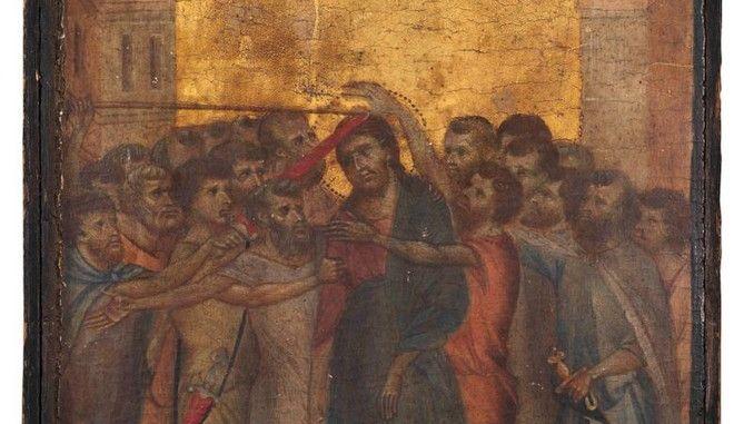 """Ο πίνακας του Τσιμαμπούε """"Η χλεύη στον Χριστό"""" που πωλήθηκε για 24,18 εκατ. ευρώ"""